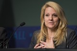 Gwynne Shotwell speaks during the COTS Initiative Panel Discussion (201311130008HQ).tif