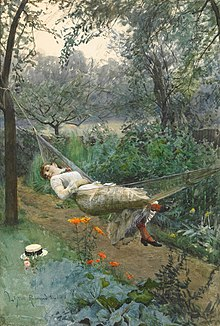 Anders Zorn In the hammock 1882.jpg