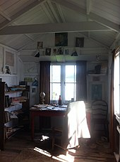 Interior of Dylan Thomas's writing shed